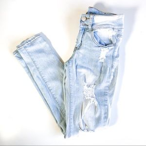 RUE 21 Mid-Rise Distressed Skinny Jeggings Jeans